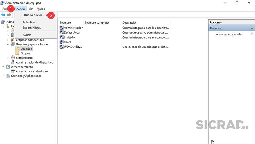 PASO 2 - Como crear una cuenta local en Windows 10 con la herramienta Usuarios y grupos locales