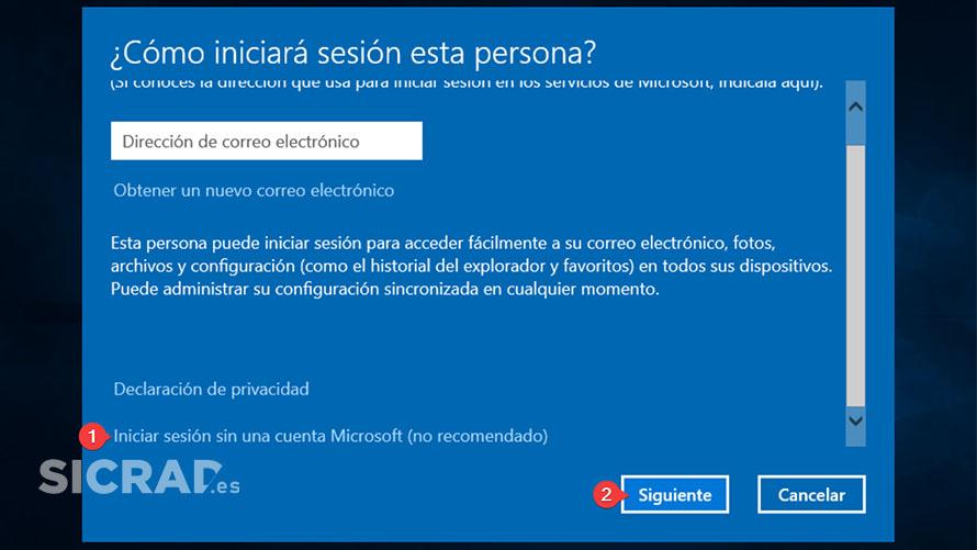 PASO 2 - Como crear una cuenta local en Windows 10 con netplwiz fácil