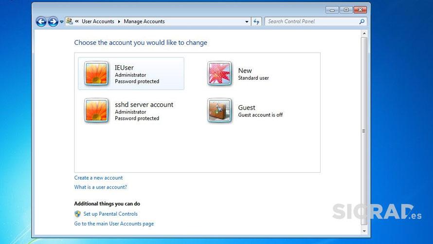 Windows 7 como se veía crear nuevo usuario local